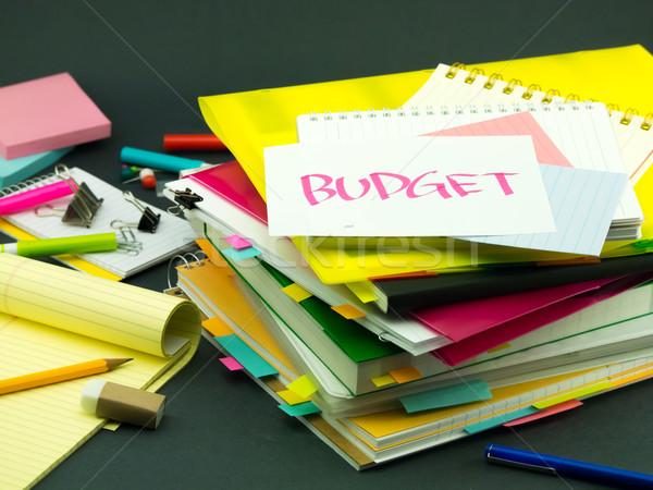 Negocios documentos presupuesto oficina escuela Foto stock © user_9323633