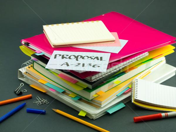 Negocios documentos propuesta oficina libro Foto stock © user_9323633