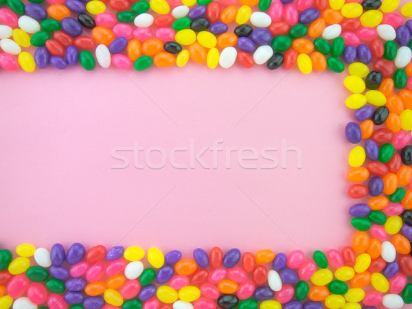 Jelly Beans Frame and Background ( Pink Background ) Stock photo © user_9323633