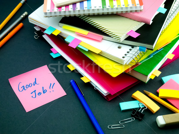Mensagem trabalhando secretária bom trabalho escritório Foto stock © user_9323633