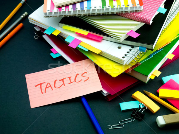 Somebody Left the Message on Your Working Desk; Tactics Stock photo © user_9323633