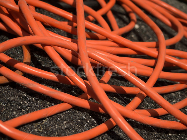 The Orange Extension Cord on the Ground at the Constructionsite Stock photo © user_9323633