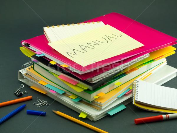 ビジネス 文書 マニュアル オフィス 図書 ストックフォト © user_9323633