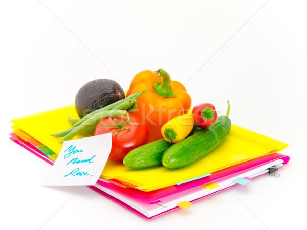 Escritório documentos legumes necessidade apresentar Foto stock © user_9323633