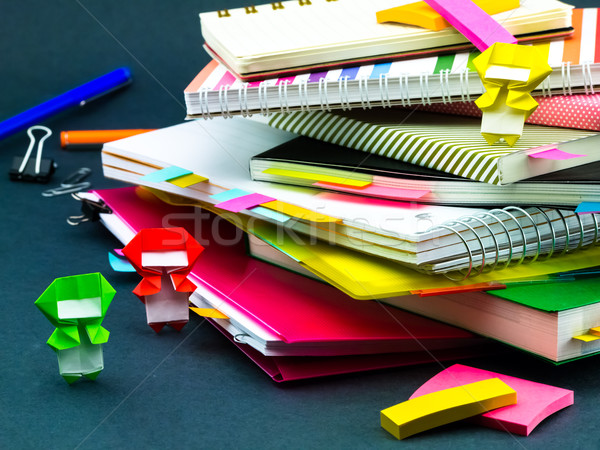 Weinig origami helpen werk bureau business Stockfoto © user_9323633
