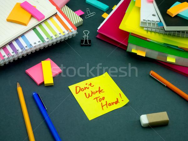 Bericht werken bureau werk kantoor school Stockfoto © user_9323633