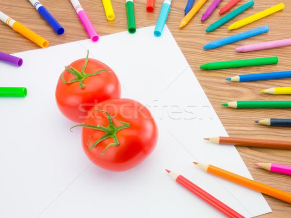Desenho tomates como frutas legumes Foto stock © user_9323633