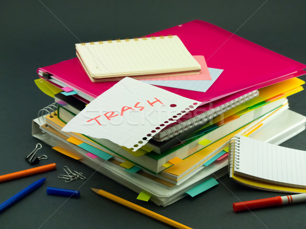 Iş belgeler çöp ofis kitap Stok fotoğraf © user_9323633