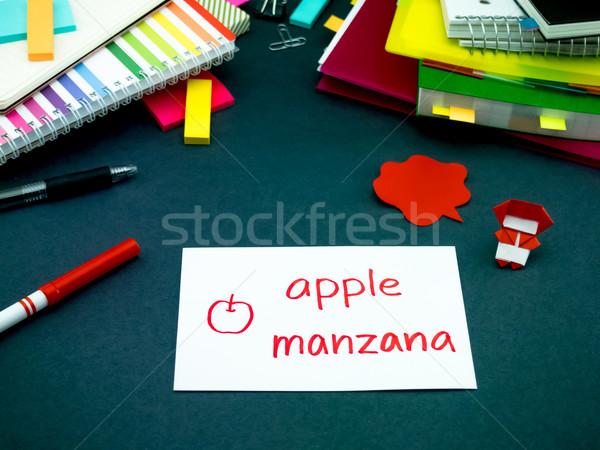 Apprendimento nuovo lingua originale flash Foto d'archivio © user_9323633