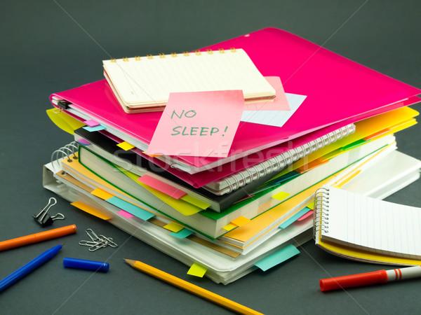 Negócio documentos não dormir escritório Foto stock © user_9323633