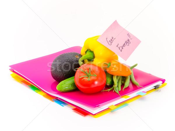 Escritório documentos legumes energia apresentar Foto stock © user_9323633