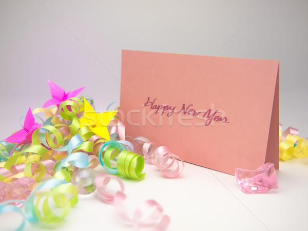 Massagem cartão feliz ano mensagem família Foto stock © user_9323633