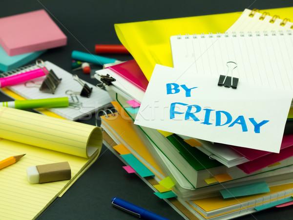 Iş belgeler ofis kitap çalışmak Stok fotoğraf © user_9323633