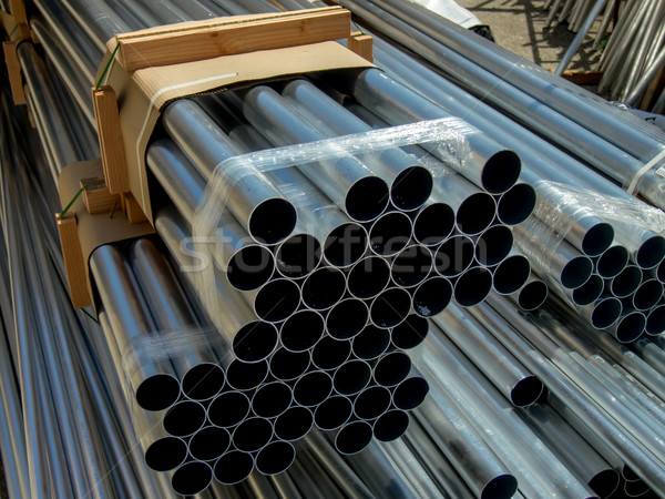 Veel pijpen bouwplaats industrie fabriek Stockfoto © user_9323633