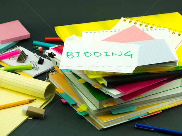 The Pile of Business Documents; Bidding Stock photo © user_9323633