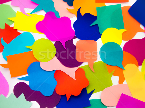 Colorful Balloons (White Background) Stock photo © user_9323633