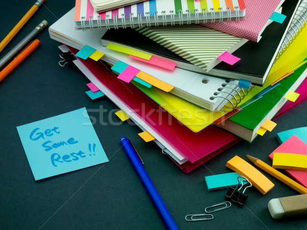 Somebody Left the Message on Your Working Desk; Get Some Rest Stock photo © user_9323633