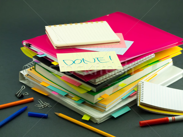 Negocios documentos oficina libro escuela Foto stock © user_9323633