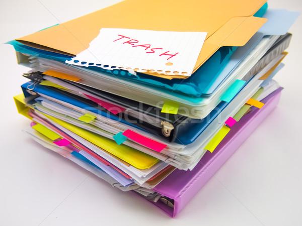 Iş belgeler çöp dev büro Stok fotoğraf © user_9323633