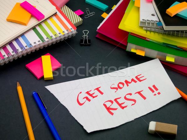 Mensagem trabalhando secretária escritório escolas reunião Foto stock © user_9323633