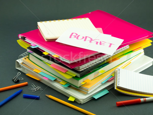 Business documenten budget kantoor school Stockfoto © user_9323633