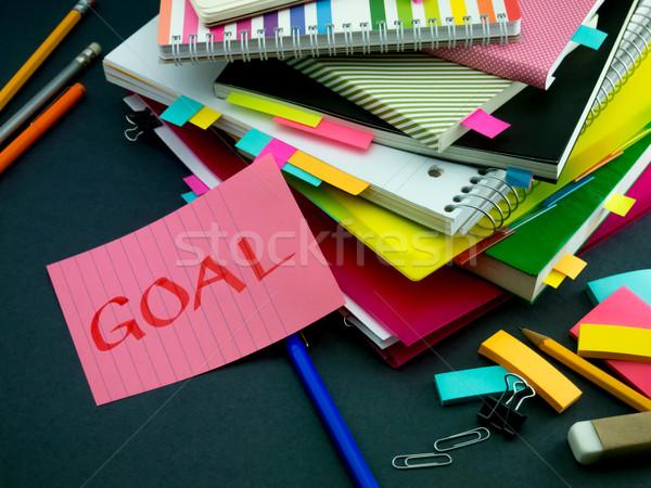 Bericht werken bureau doel kantoor school Stockfoto © user_9323633