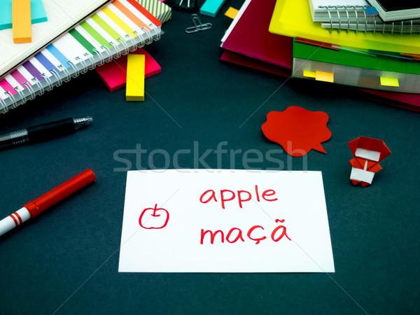 Foto stock: Aprendizagem · novo · linguagem · original · flash