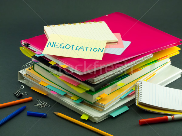 The Pile of Business Documents; Negotiation Stock photo © user_9323633