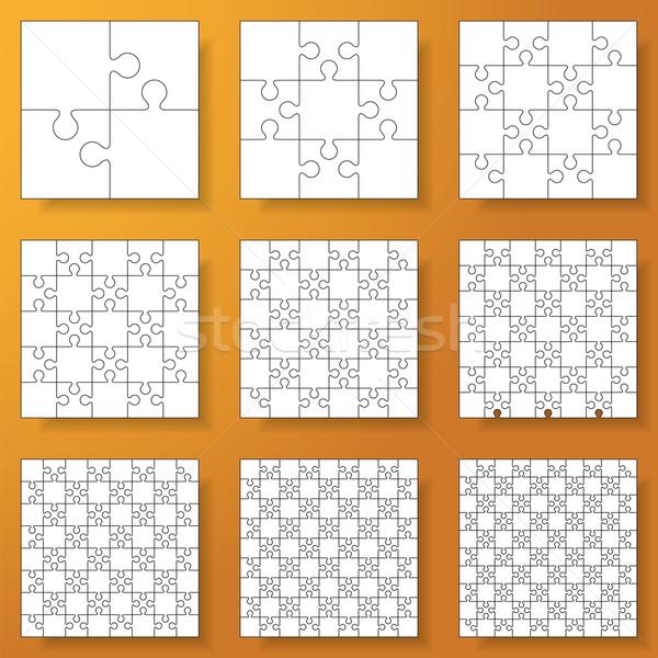 コレクション ジグソーパズル 抽象的な モデル 背景 ストックフォト © user_9385040