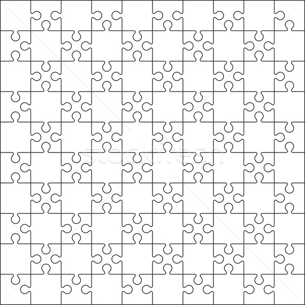 100 Jigsaw puzzle blank template background. Stock photo © user_9385040