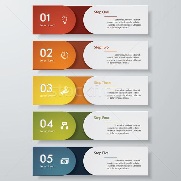 デザイン クリーン 番号 バナー テンプレート 色 ストックフォト © user_9385040
