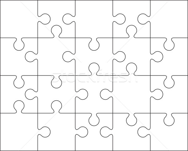 25 Jigsaw puzzle blank template or cutting guidelines Stock photo © user_9385040