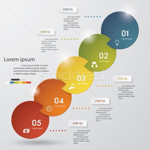 抽象的な 手順 ビジネス プレゼンテーション テンプレート インフォグラフィック ストックフォト © user_9385040