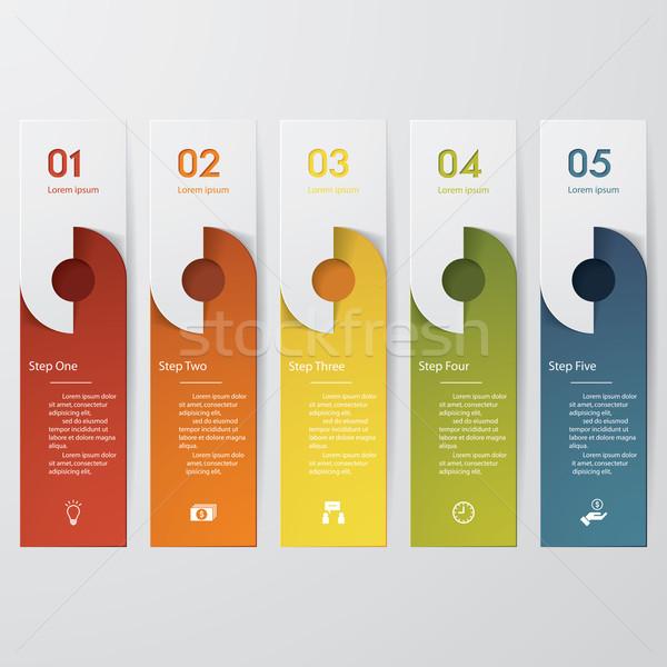 ストックフォト: デザイン · クリーン · 番号 · バナー · テンプレート · 色