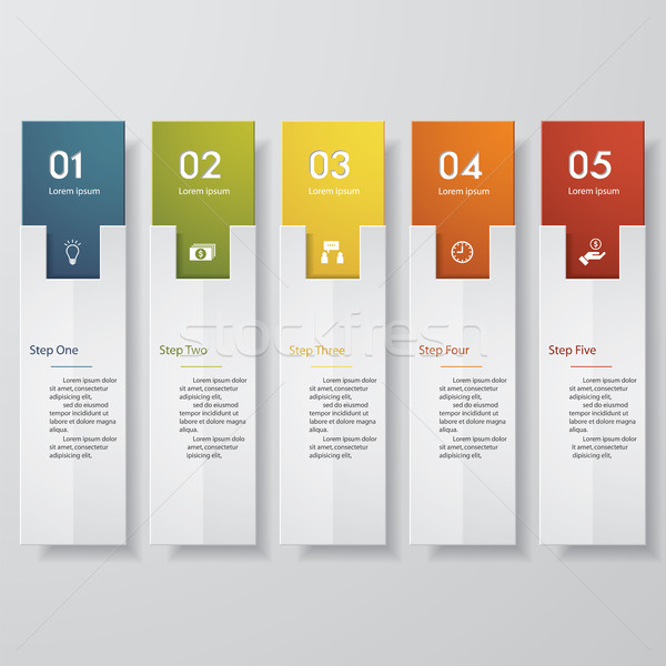 Stock photo: Design clean number banners template. Vector.