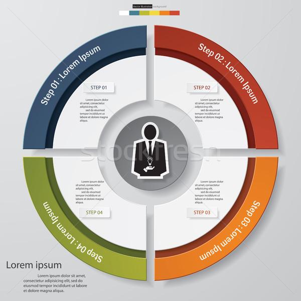 抽象的な 手順 要素 ビジネス データ グラフ ストックフォト © user_9385040
