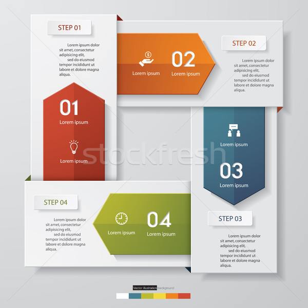abstract 4 steps template with free space for your sample text&data. Stock photo © user_9385040