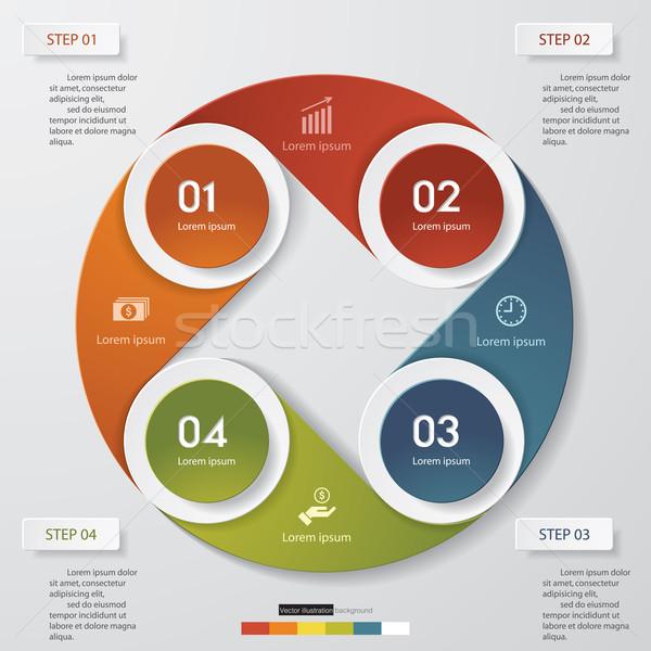 抽象的な 手順 要素 デザイン ボタン 現代 ストックフォト © user_9385040