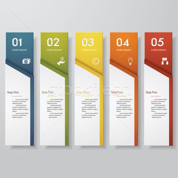 デザイン クリーン 番号 バナー テンプレート ベクトル ストックフォト © user_9385040