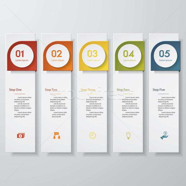 дизайна чистой числа Баннеры шаблон цветами Сток-фото © user_9385040