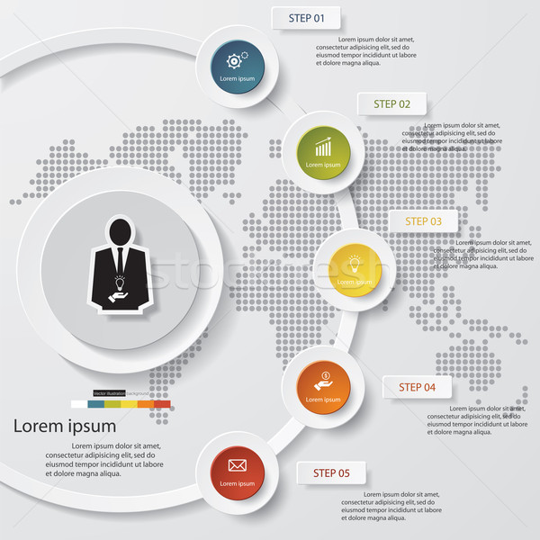 Stock photo: 5 steps vector for infographic. EPS10