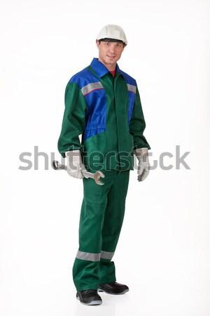 Hombre uniforme joven aislado Foto stock © user_9834712