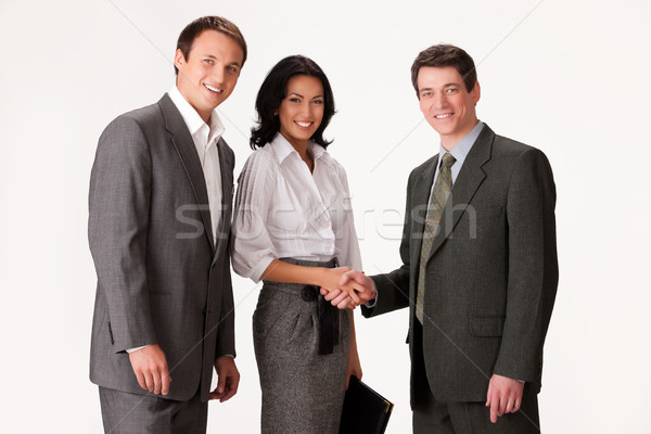 小さな プロ 人 ビジネスの方々  異なる 喜怒哀楽 ストックフォト © user_9834712
