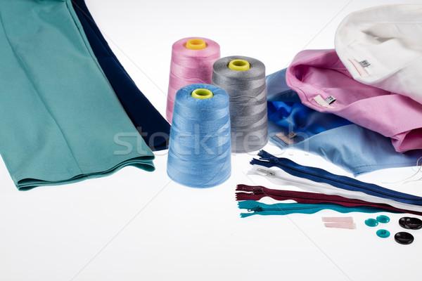 Csendélet kellékek különböző nadrág pólók stúdió Stock fotó © user_9834712