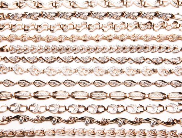 Gouden viool geïsoleerd witte metaal Stockfoto © user_9834712