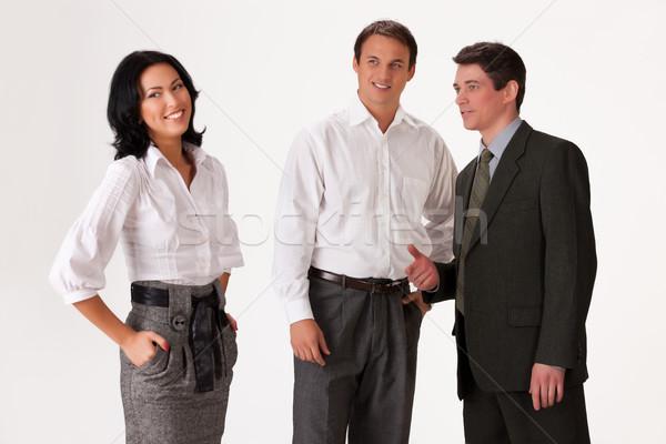 Jóvenes profesional personas gente de negocios diferente emociones Foto stock © user_9834712