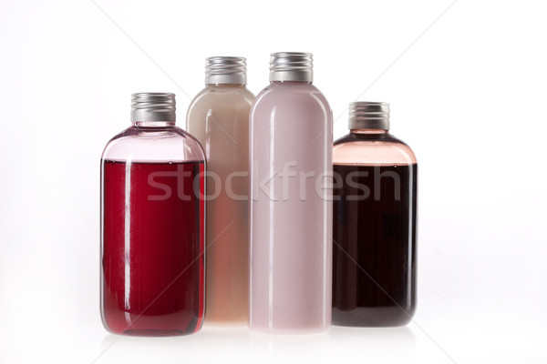 Botellas cosméticos crema aislado botella Foto stock © user_9834712