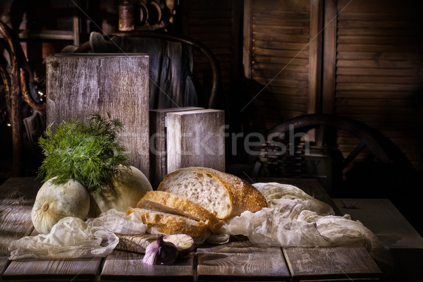 Still Life With Bread Stock photo © user_9834712
