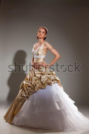 小さな 美人 ウェディングドレス 美しい スタジオ ストックフォト © user_9834712