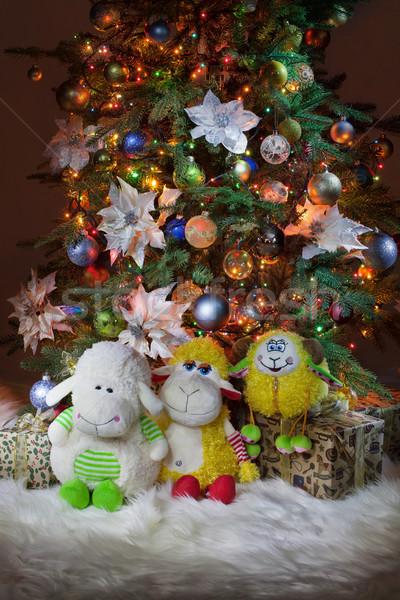Juguetes nuevos año árbol juguete piso Foto stock © user_9834712